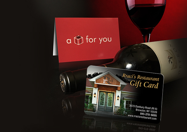 Gift Cards for Rracis Italian Restaurant in Brewster NY